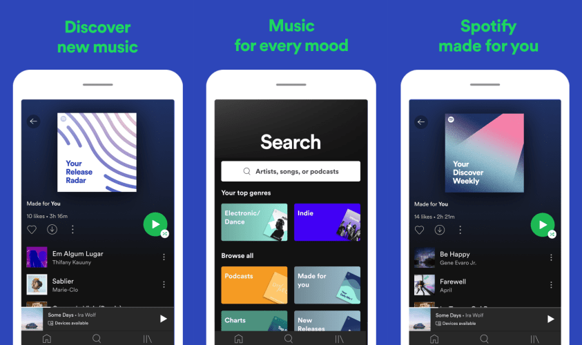 Spotify key features