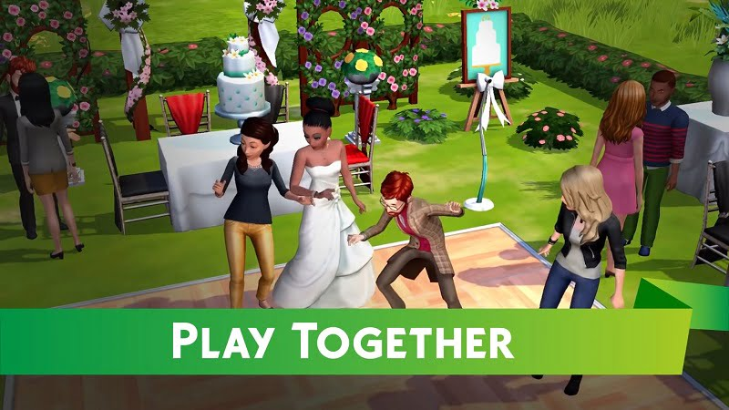The Sims Mobile play together
