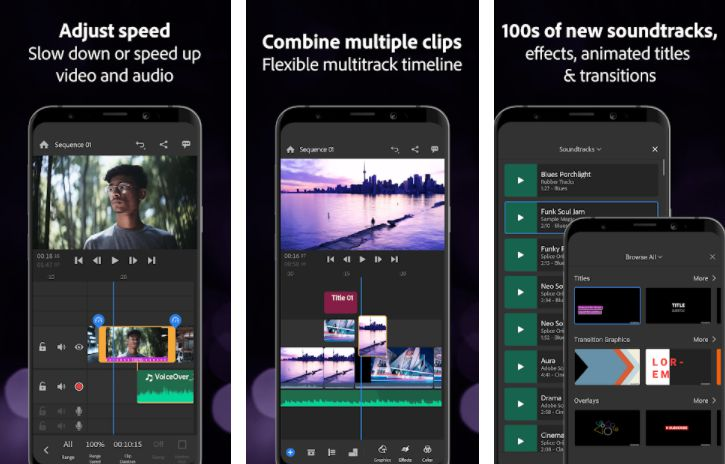 Adobe Premiere Rush features