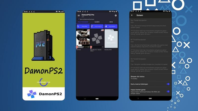 DamonPS2 PRO features
