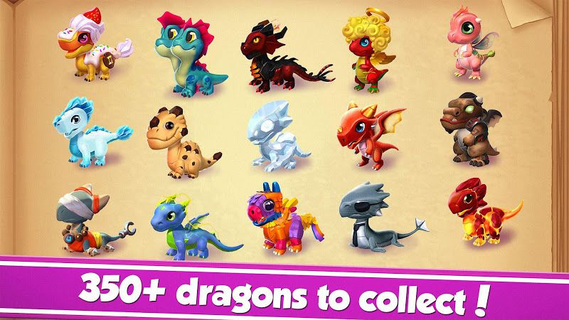 Dragon Mania Legends list dragons