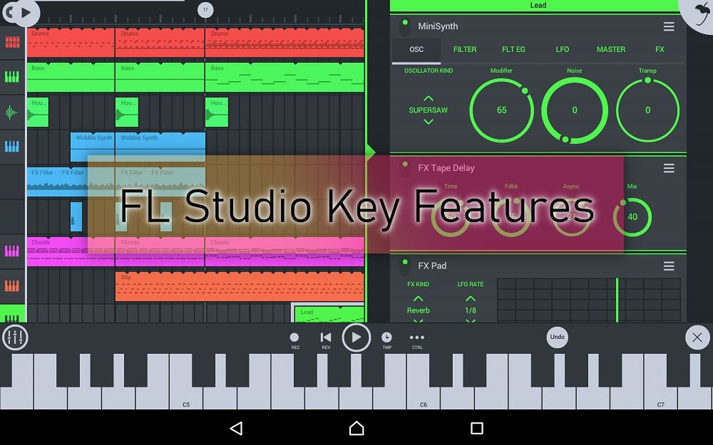 FL Studio Mobile key features