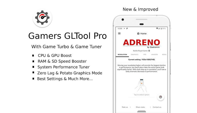 Gamers GLTool Pro features