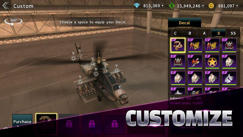 GUNSHIP BATTLE customize