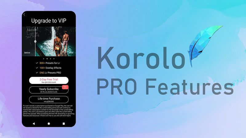 Korolo PRO features