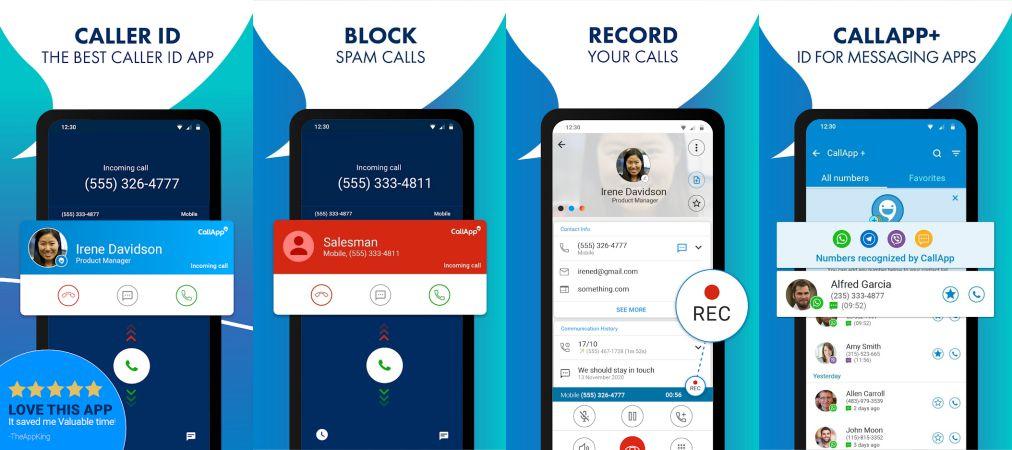CallApp PRO features