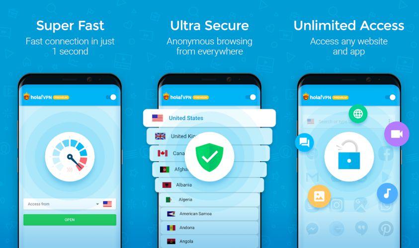 Hola VPN Plus Features