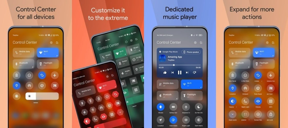 Mi Control Center PRO Features