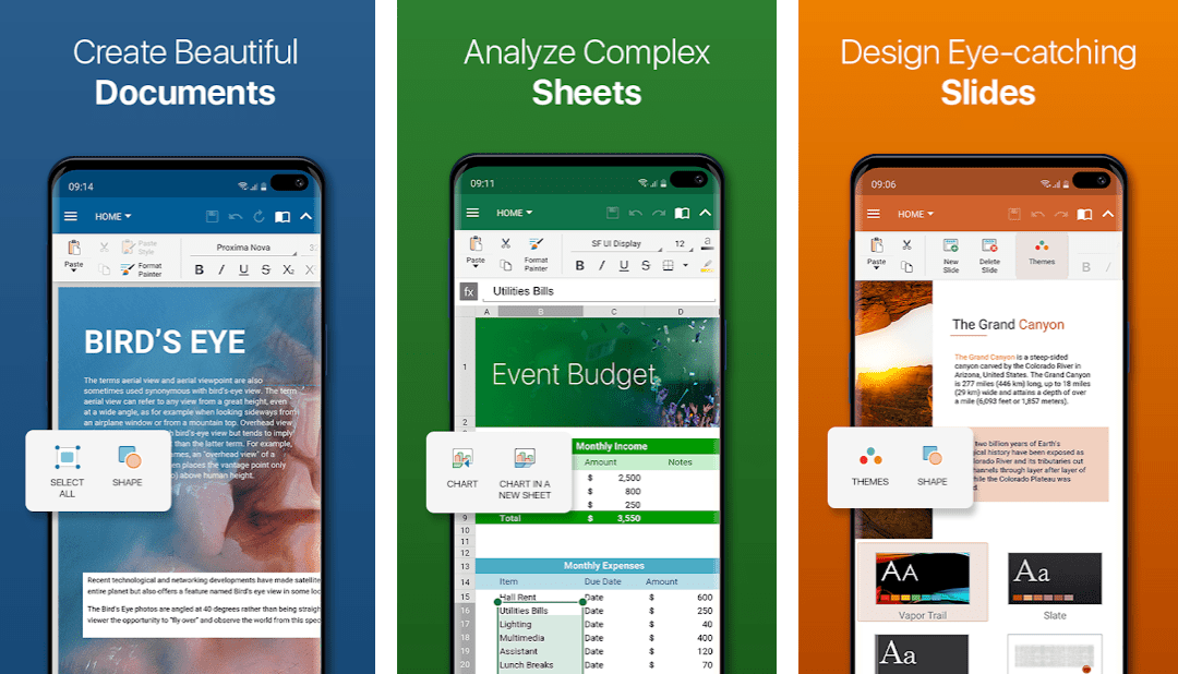 OfficeSuite features
