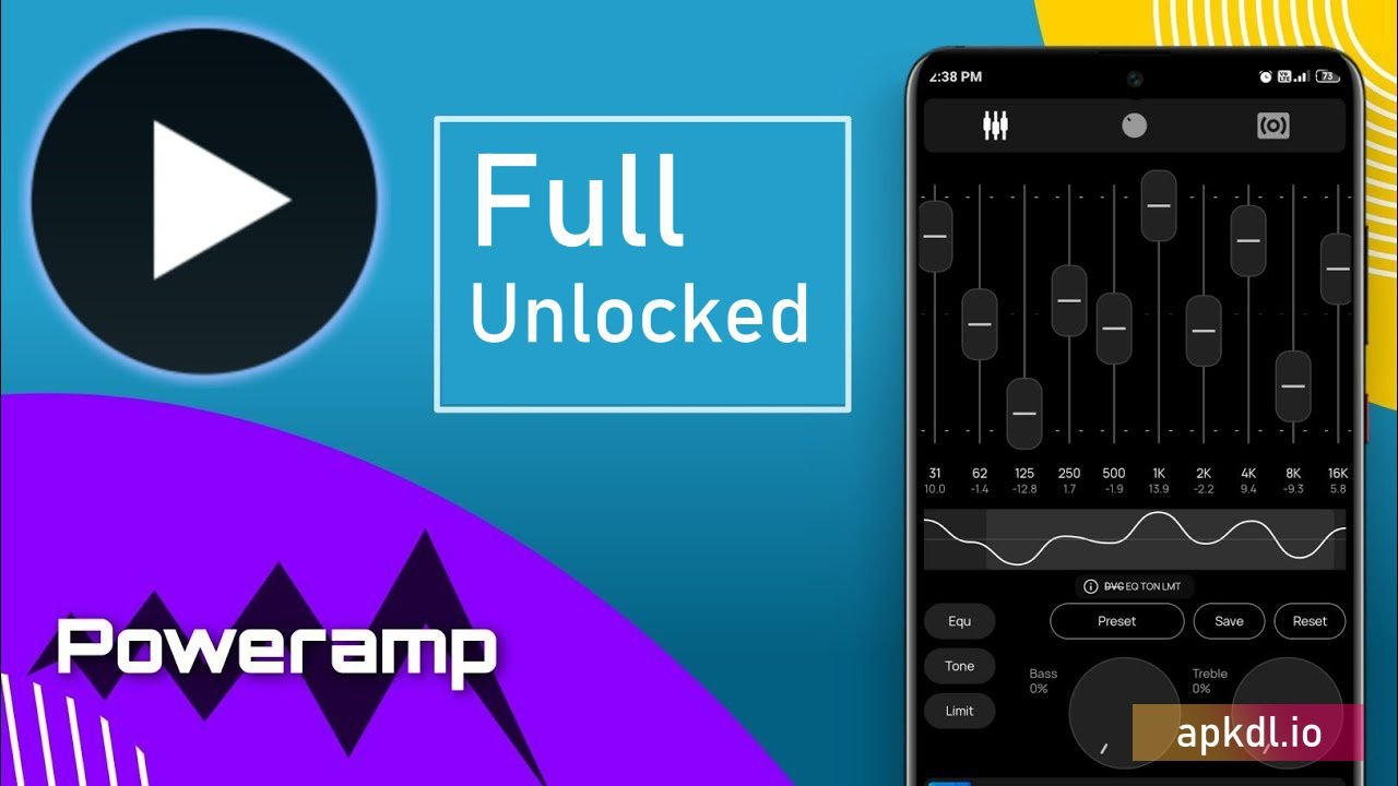 Poweramp Full Version Unlocker APK 3-build (MOD, Paid) » APKdawn