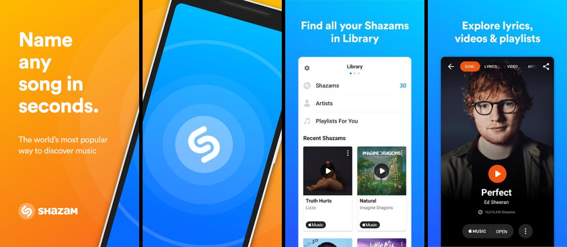 Shazam Encore Features