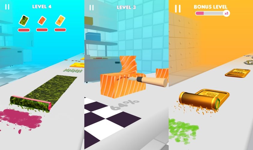 Sushi Roll 3D Gameplay