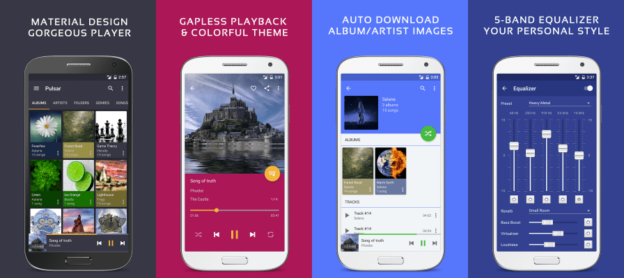 Pulsar Music Player Pro features